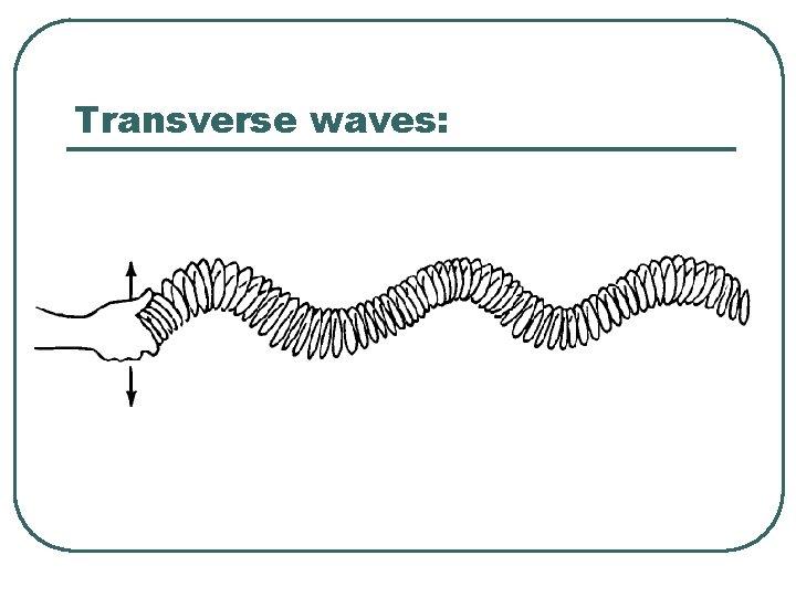 Transverse waves: