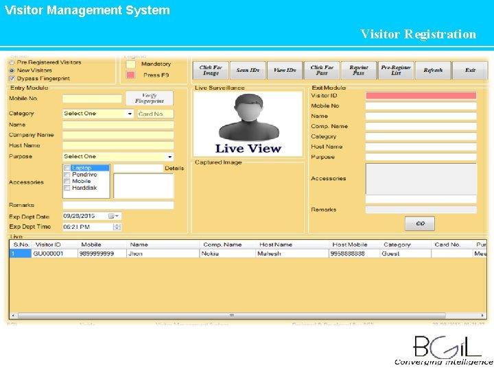 Visitor Management System Visitor Registration