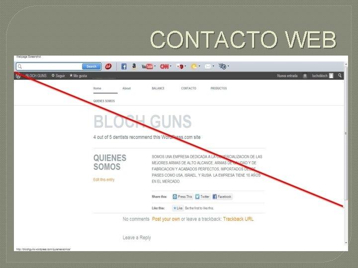 CONTACTO WEB