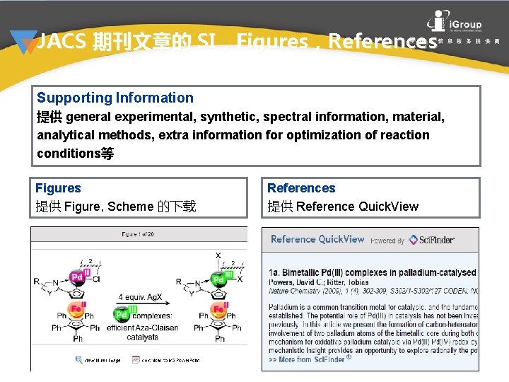 JACS 期刊文章的 SI,Figures,References Supporting Information 提供 general experimental, synthetic, spectral information, material, analytical methods,