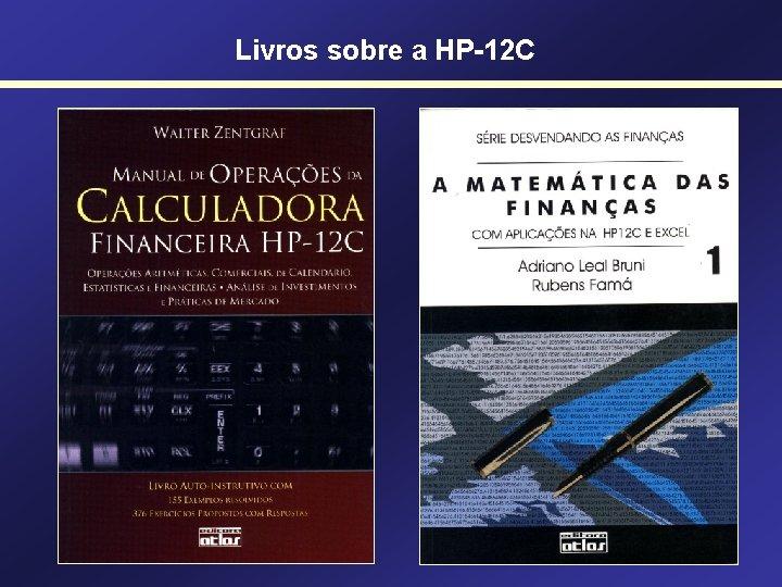 Livros sobre a HP-12 C