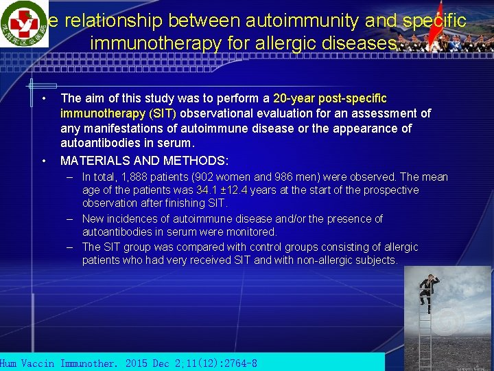 The relationship between autoimmunity and specific immunotherapy for allergic diseases. • • The aim