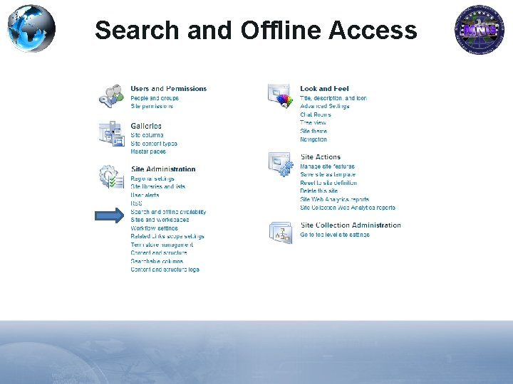 Search and Offline Access