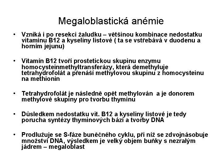 anemie z nedostatku vit b12