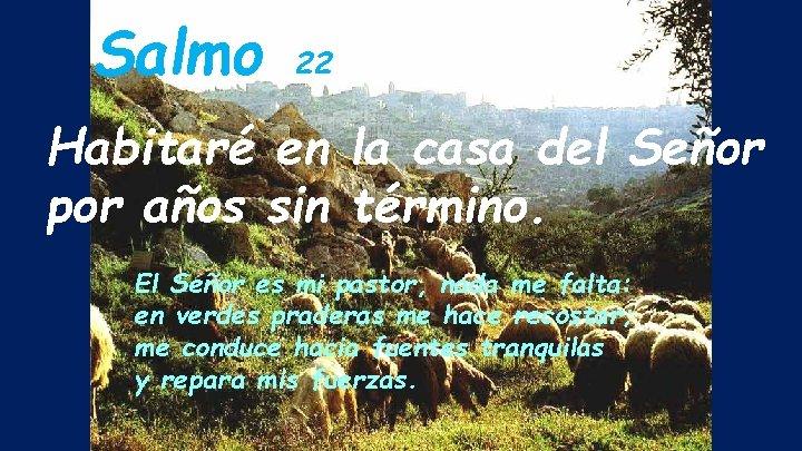 Salmo 22 Habitaré en la casa del Señor por años sin término. El Señor