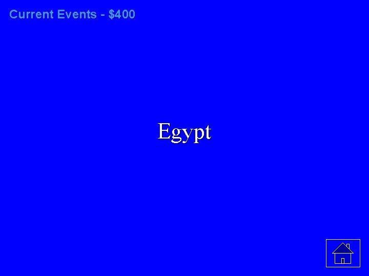 Current Events - $400 Egypt