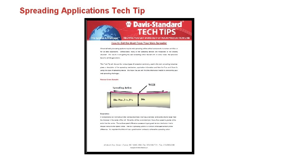Spreading Applications Tech Tip