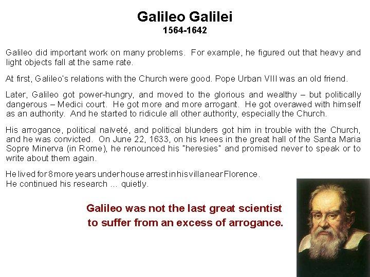 Galileo Galilei Biografie Discover The Cosmos 9