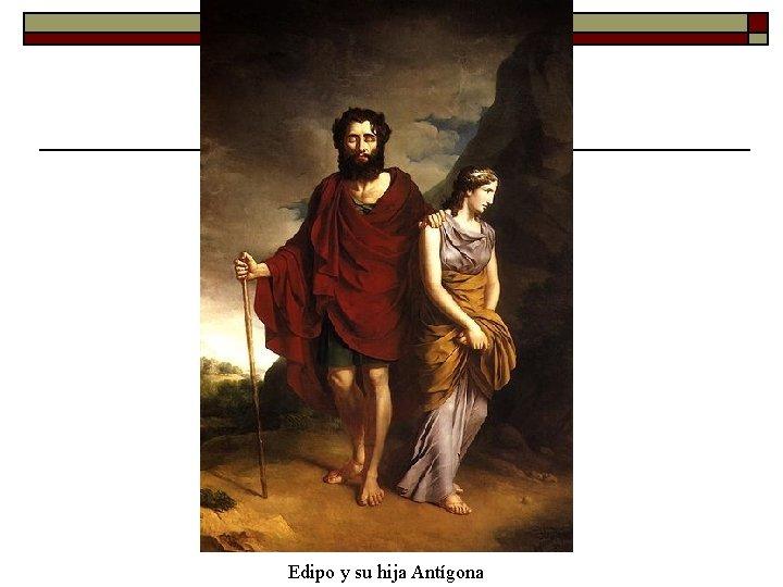 Edipo y su hija Antígona