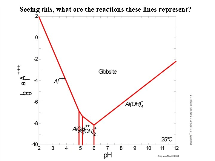 Seeing this, what are the reactions these lines represent?