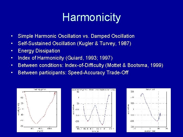 Harmonicity • • • Simple Harmonic Oscillation vs. Damped Oscillation Self-Sustained Oscillation (Kugler &