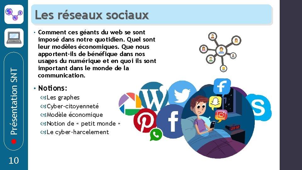 Présentation SNT Les réseaux sociaux 10 • Comment ces géants du web se sont