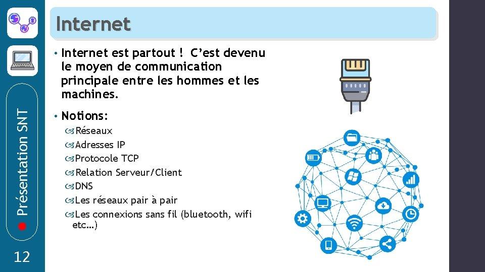 Présentation SNT Internet 12 • Internet est partout ! C'est devenu le moyen de