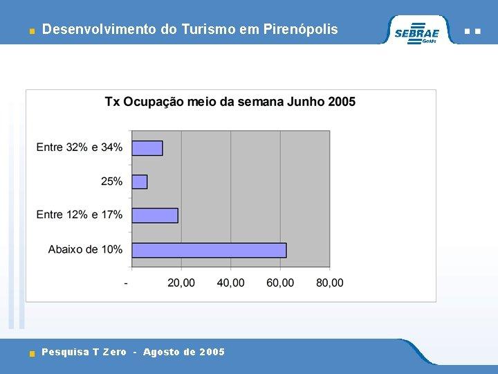 Desenvolvimento do Turismo em Pirenópolis Pesquisa T Zero - Agosto de 2005