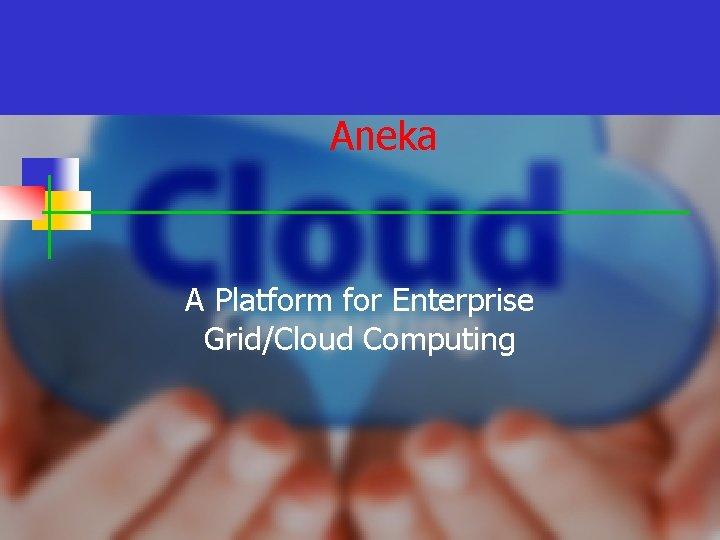 Aneka A Platform for Enterprise Grid/Cloud Computing