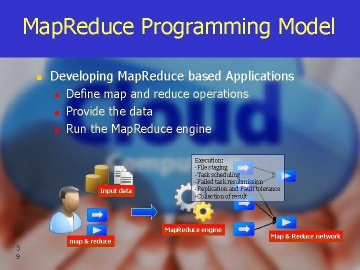 Map. Reduce Programming Model n Developing Map. Reduce based Applications n n n Define