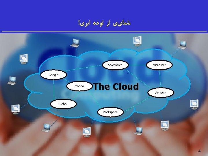 ! ﺷﻤﺎیی ﺍﺯ ﺗﻮﺩﻩ ﺍﺑﺮی Salesforce Microsoft Google Yahoo The Cloud Amazon Zoho Rackspace