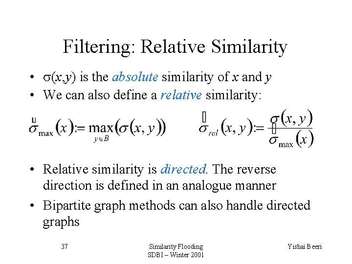 Graph matching algorithm