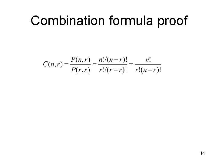 Combination formula proof 14