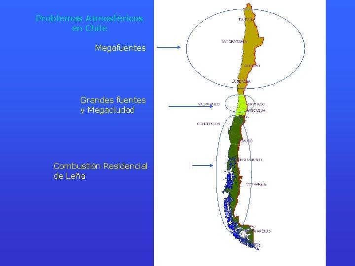 Problemas Atmosféricos en Chile Megafuentes Grandes fuentes y Megaciudad Combustión Residencial de Leña
