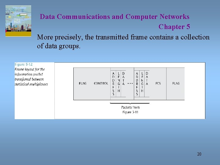 Data Communications and Computer Networks Chapter 5 More precisely, the transmitted frame contains a