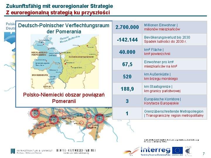 Zukunftsfähig mit euroregionaler Strategie Z euroregionalną strategią ku przyszłości Deutsch-Polnischer Verflechtungsraum der Pomerania 2.