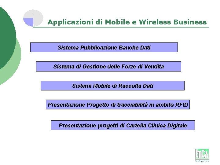 Applicazioni di Mobile e Wireless Business Sistema Pubblicazione Banche Dati Sistema di Gestione delle