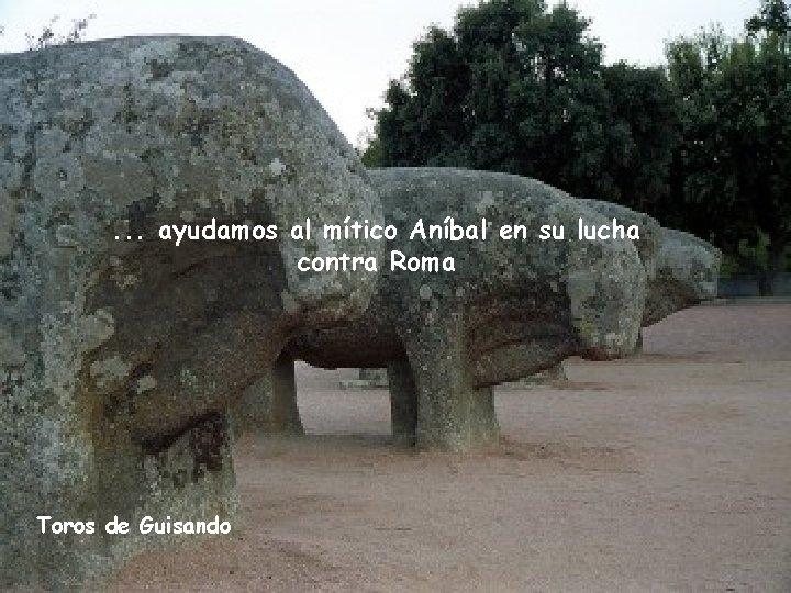 . . . ayudamos al mítico Aníbal en su lucha contra Roma Toros de