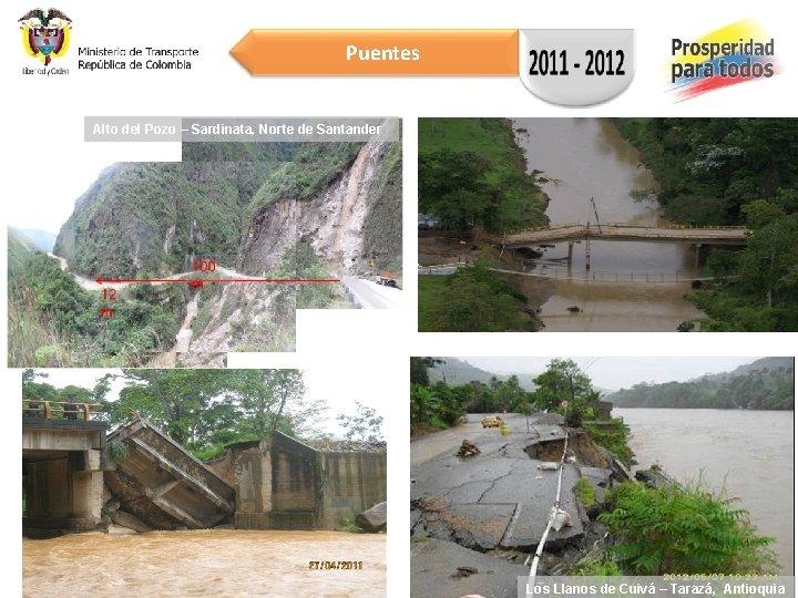 Puentes Alto del Pozo – Sardinata, Norte de Santander 16/08/2012 13 Los Llanos de