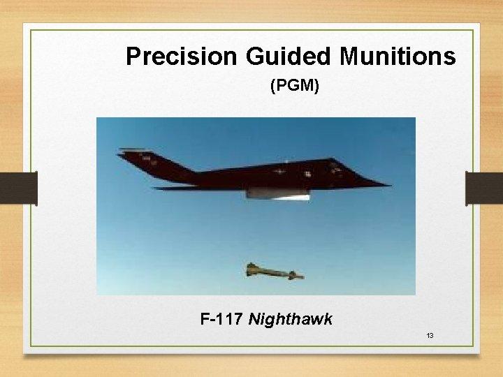 Precision Guided Munitions (PGM) F-117 Nighthawk 13
