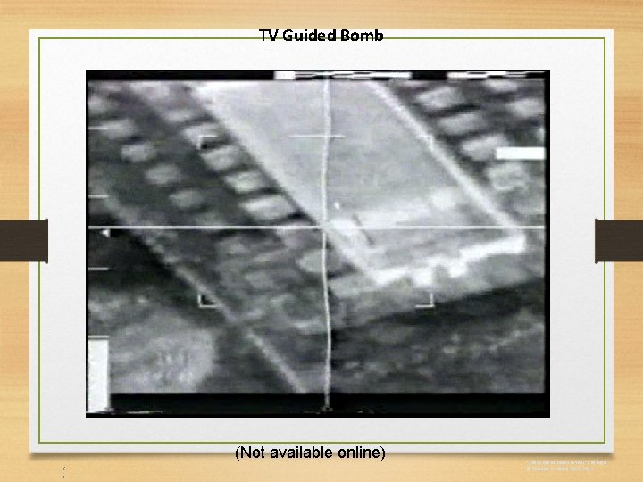 """TV Guided Bomb (Not available online) ( """"The Circle of Modern War"""" and logo"""
