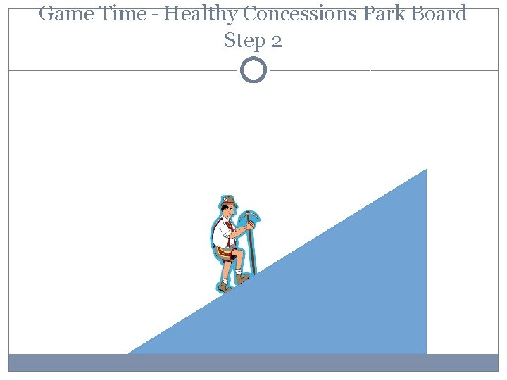 Game Time – Healthy Concessions Park Board Step 2