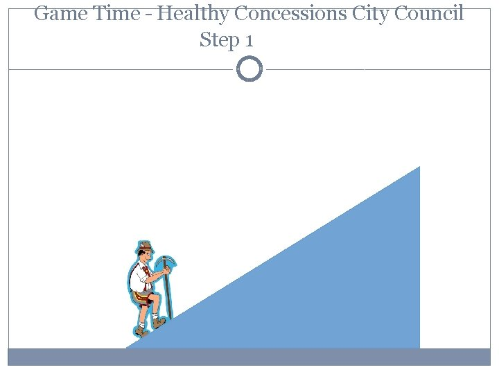 Game Time – Healthy Concessions City Council Step 1