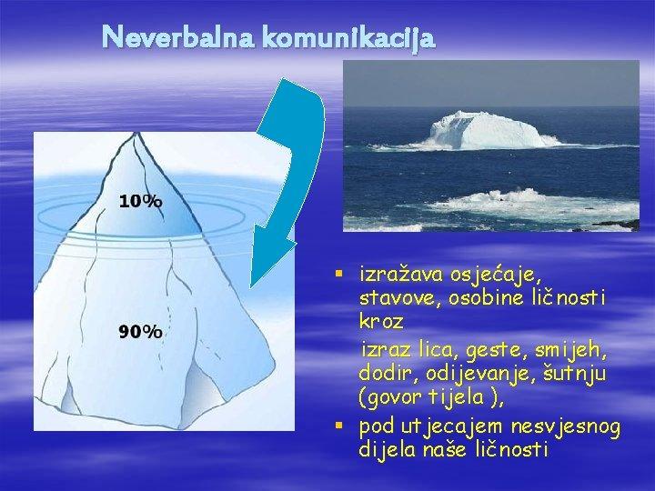 Neverbalna komunikacija § izražava osjećaje, stavove, osobine ličnosti kroz izraz lica, geste, smijeh, dodir,