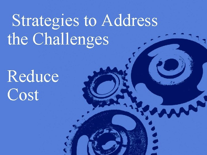 Strategies to Address the Challenges Reduce Cost Copyright © 2005 Deloitte Development LLC. All