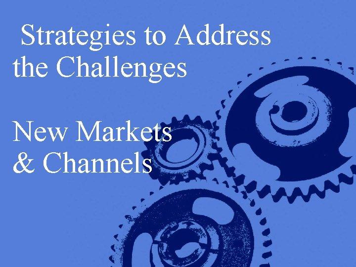 Strategies to Address the Challenges New Markets & Channels Copyright © 2005 Deloitte Development