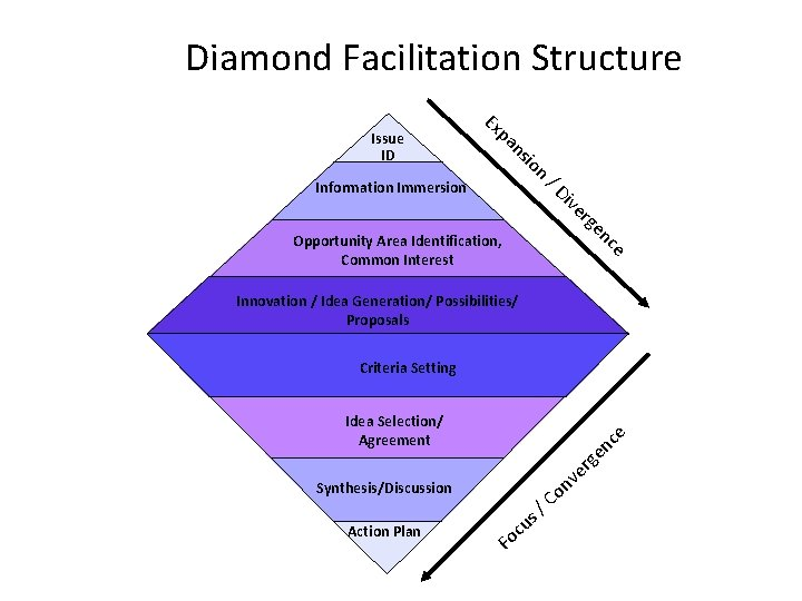 Diamond Facilitation Structure io ns pa Ex Issue ID / D n Information Immersion