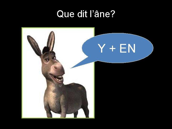 Que dit l'âne? Y + EN