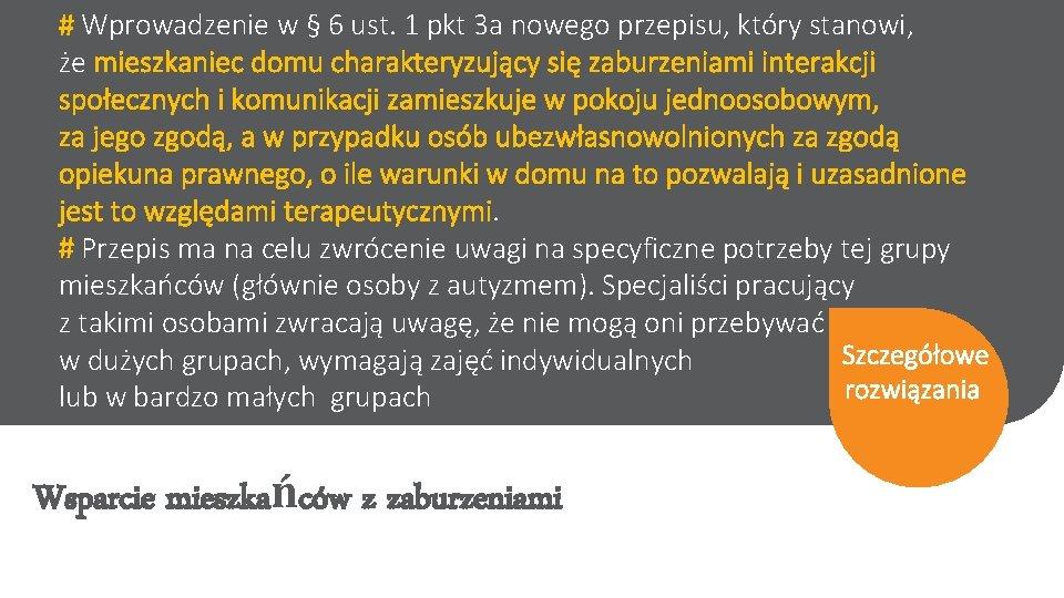 # Wprowadzenie w § 6 ust. 1 pkt 3 a nowego przepisu, który stanowi,