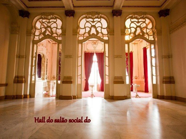 Hall do salão social do