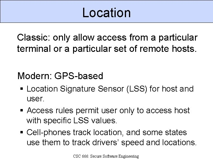 Location Classic: only allow access from a particular terminal or a particular set of