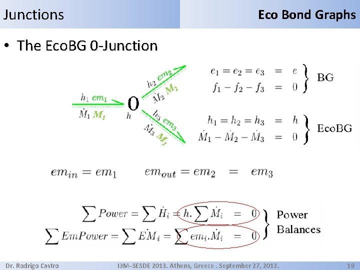 Junctions Eco Bond Graphs • The Eco. BG 0 -Junction M 2 M 1