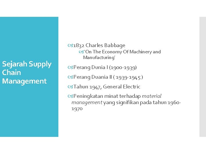 1832 Charles Babbage Sejarah Supply Chain Management 'On The Economy Of Machinery and
