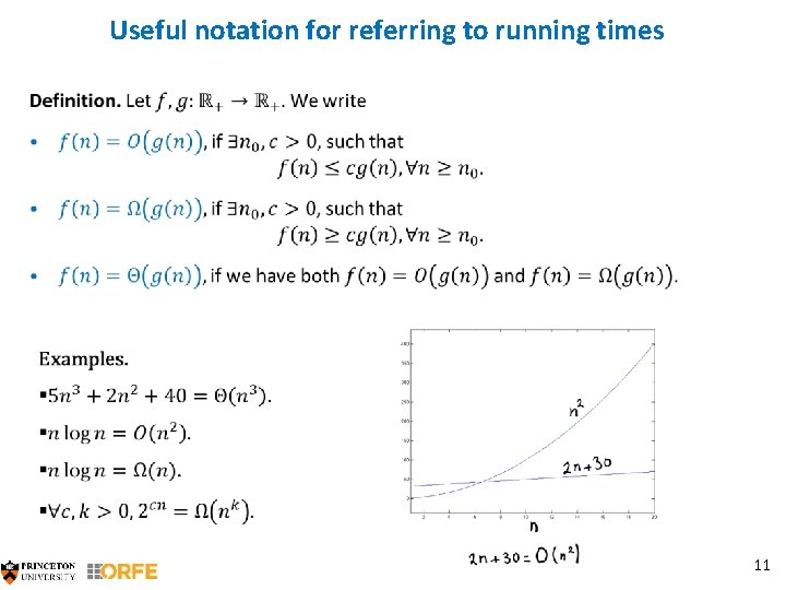 Useful notation for referring to running times 11