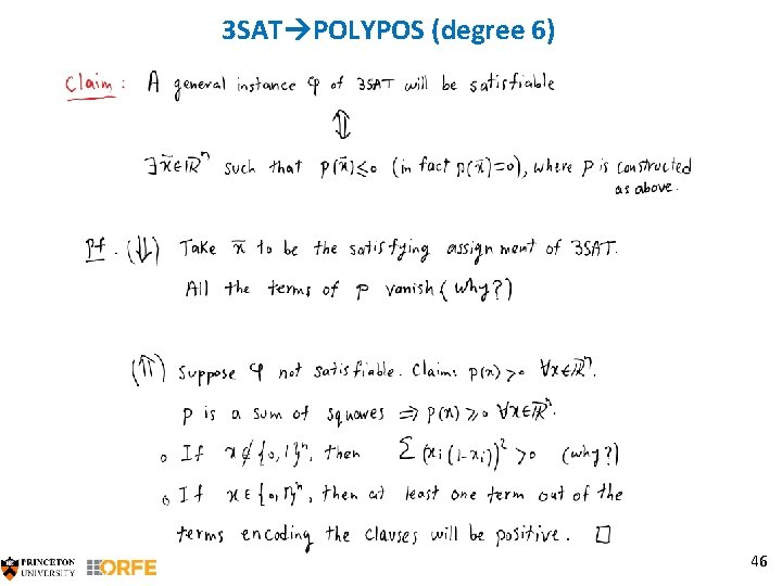 3 SAT POLYPOS (degree 6) 46