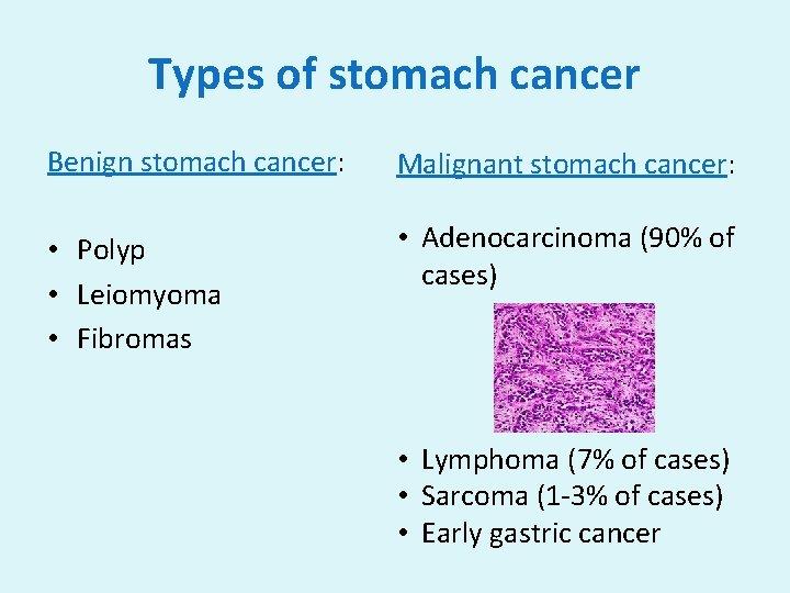 gastric cancer kinds)