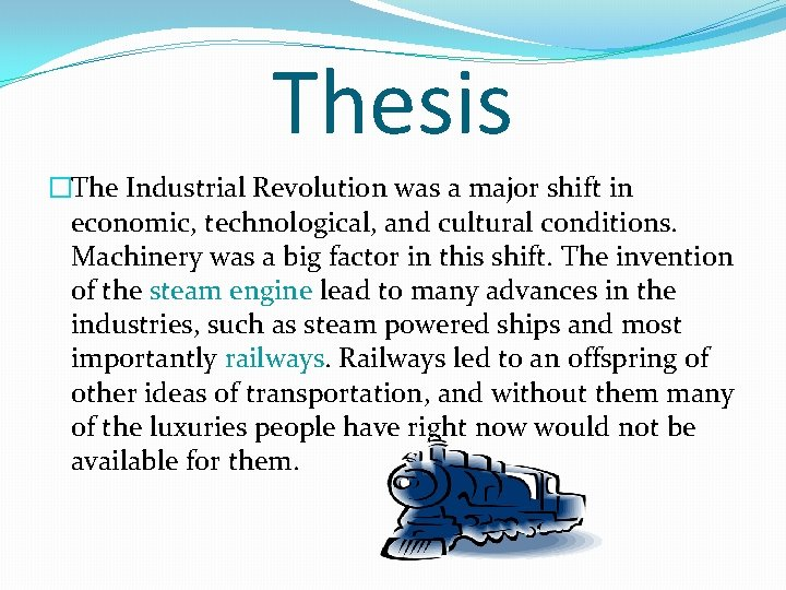 Thesis on james watt literacy research paper