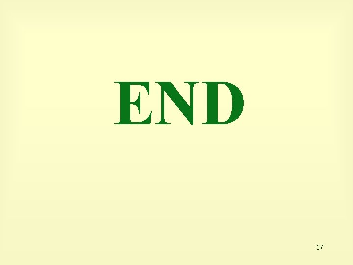 END 17