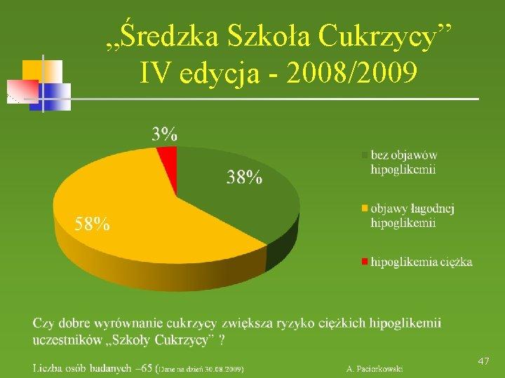 """""""Średzka Szkoła Cukrzycy"""" IV edycja - 2008/2009 47"""