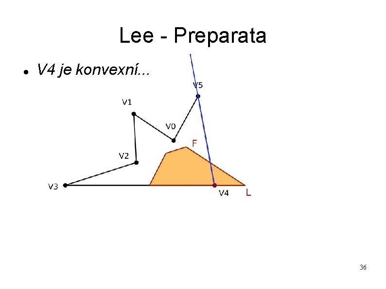 Lee - Preparata V 4 je konvexní. . . 36